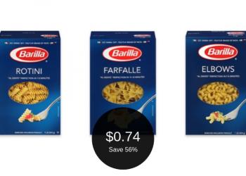 Barilla Pasta Coupon = $0.74 Each
