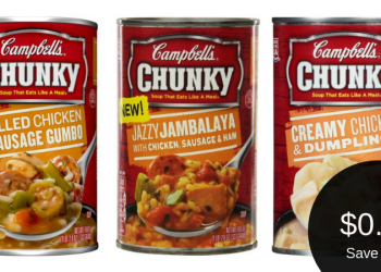 Campbell's Chunky Soup for $0.74 or HomeStyle Soup for $0.99