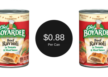 Chef Boyardee for $0.88 – Great for Kids on the Go