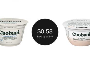 Chobani Coupon Deal = as Low as $0.58 for Yogurt
