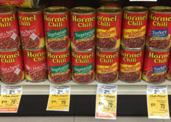 Hormel Chili for $0.75 (Save 66%)