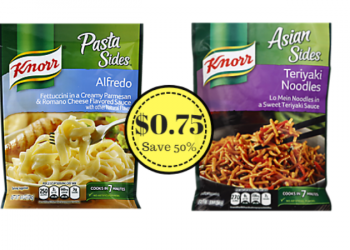 Knorr Sides Coupon, Pay $0.75 Each (Save 50%)