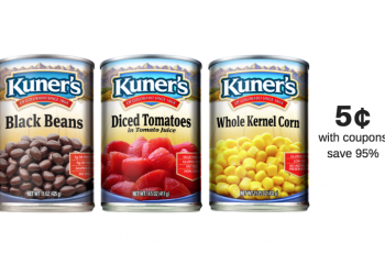 STOCK UP on Kuner's of Colorado Canned Beans, Tomatoes and Veggies – 12 Cans Just 5¢ Each