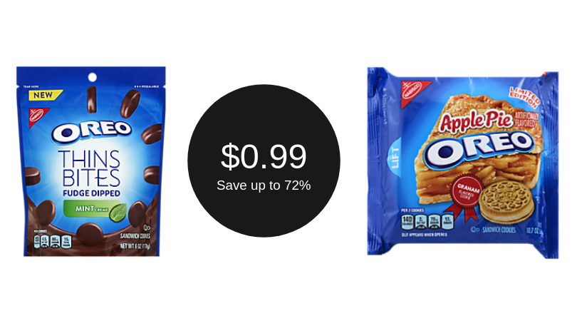 Oreo Thins Bites or Oreo Cookies for ONLY $0.99