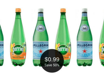 S.Pellegrino and Perrier Water for $0.99 Each at Safeway | Save 50% on Liter Bottles