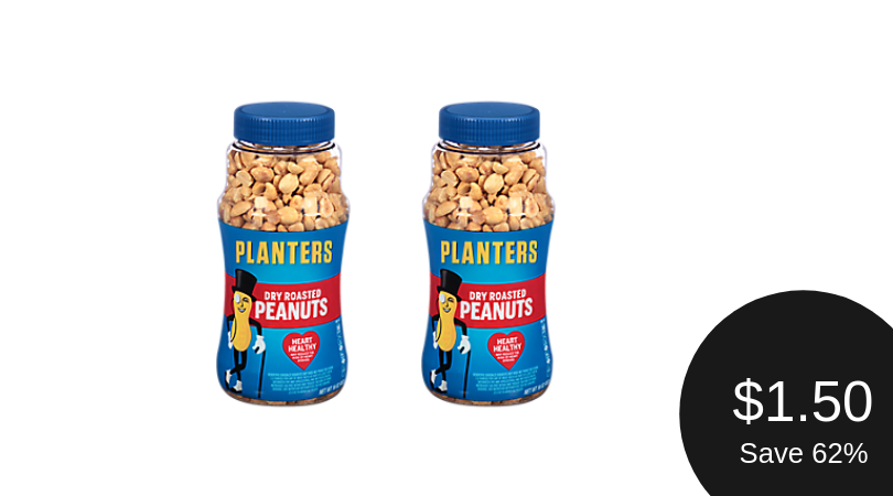 Planters Peanuts Coupon = $1.50 Per Jar
