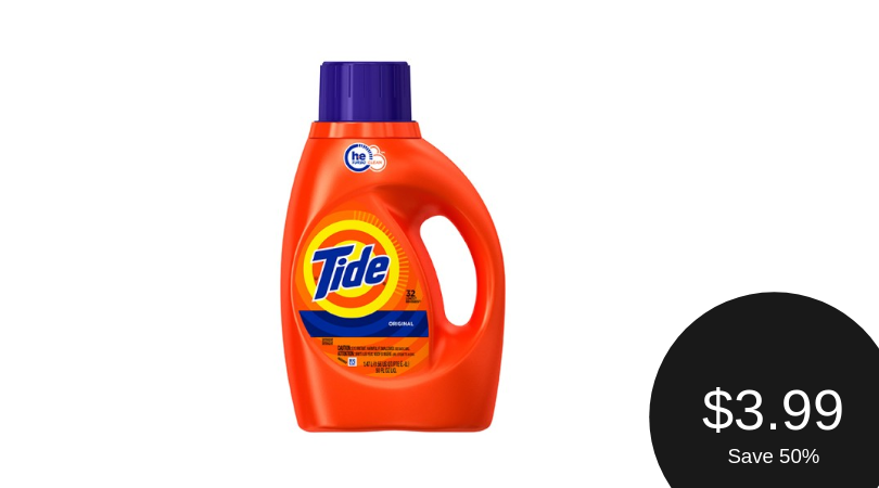 Tide Coupon & Sale, Pay $3.99 (Save 50%)