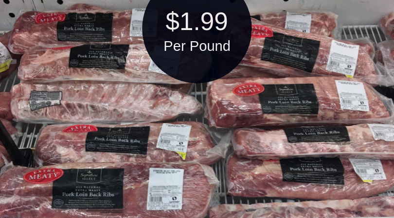 Hot Baby Back Ribs Coupon 1 99 Per Pound Super Safeway