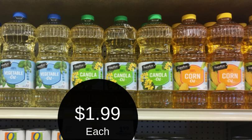 Signature SELECT Oil for $1.99 (Vegetable, Canola, & Corn)