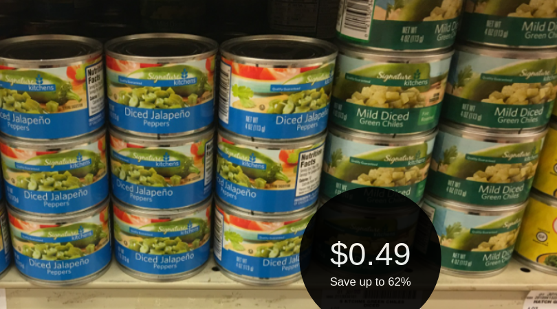 Canned Chiles or Jalapenos for $0.49 (Save up to 60%)