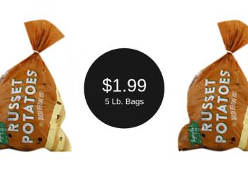 Signature Farms Russet Potatoes = $1.99 for 5 Pounds