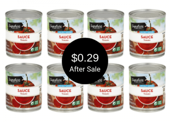 Signature SELECT Tomato Sauce on Sale at Safeway = $0.29 Per Can