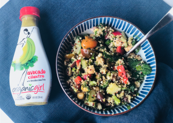 Spinach Quinoa Salad With Avocado Cilantro Dressing