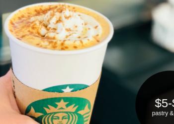 Starbucks Friday Love – Grande $5 or Venti $6 (Pastry & Drink)