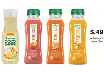 Tropicana Essentials Probiotics Juice Just $.49