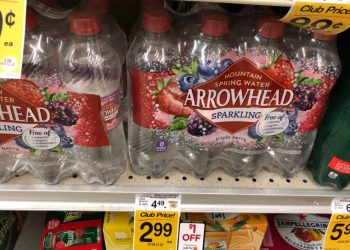 HOT!  Save on Arrowhead Sparkling Water With Catalina, Sale and Coupon
