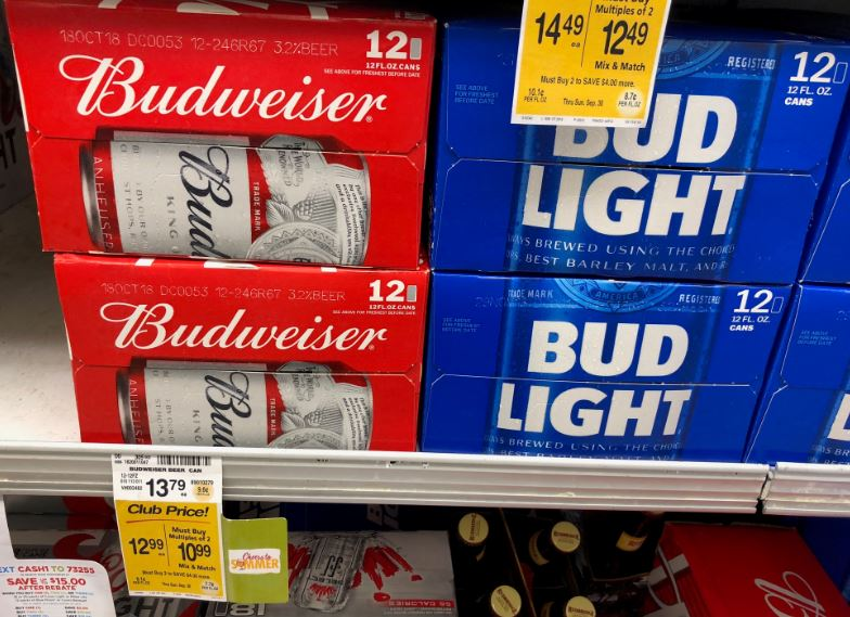 Budweiser or Bud Light 12 Packs Just $6 24 Each After Cash