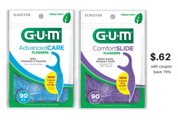 GUM Flossers 90 Ct. Just $.62 With Catalina, Sale and Coupon (Save 79%)