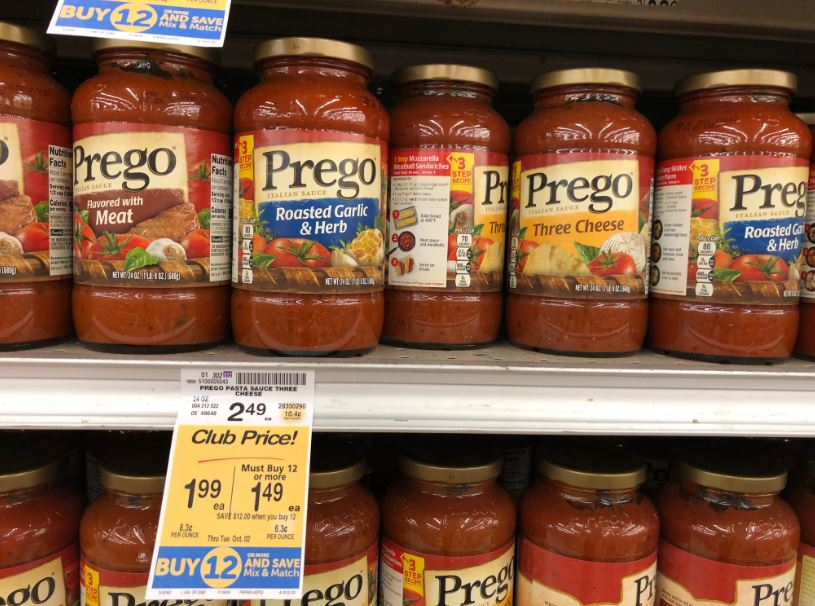 Save On Prego Pasta Sauce And Garlic Bread At Safeway Just 99 With Coupon Super Safeway