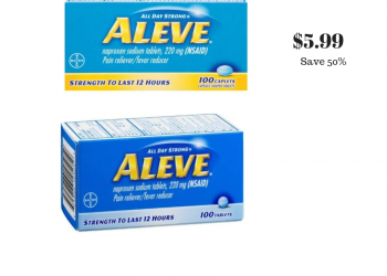 Aleve 100 ct. Sale and Coupon – Pay just $5.99 at Safeway (Reg. $9.99)
