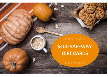 Fall Giveaway! Enter to Win $400 Safeway Gift Card Giveaway