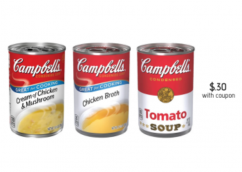 Campbell's Condensed Soup Coupons = as Low as $0.30 (Friday – Sunday)