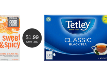 Good Earth Sweet & Spicy Tea or Tetley Tea for $1.99 Each at Safeway | Save 50%