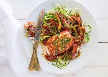 Instant Pot Chicken Cacciatore Recipe With Zucchini Noodles
