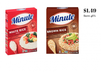 New Minute Instant Rice Coupon and Sale, Pay Just $1.49 at Safeway