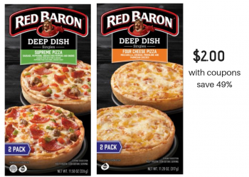 Red Baron Pizza Sale at Safeway, Pay Just $2.00 With Coupon, Save 49%