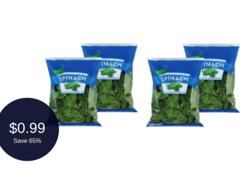 Signature Farms Spinach Coupon = $0.99 Per Bag (Save 65%)