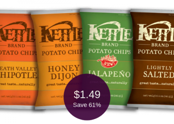 Kettle Brand Chips Coupon = $1.49 Per Bag