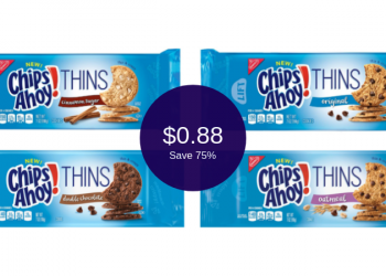 Chips Ahoy Thins Coupon & Sale = $0.88