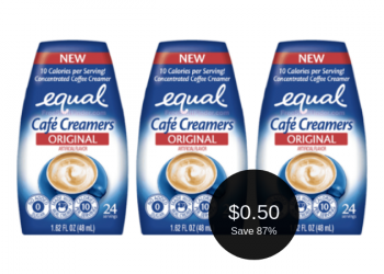 Equal Cafe Creamers Sale + Coupon = $0.50