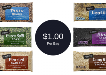 Dried Beans, Lentils, Rice, Split Peas, & Pearled Barley for $1.00 Each