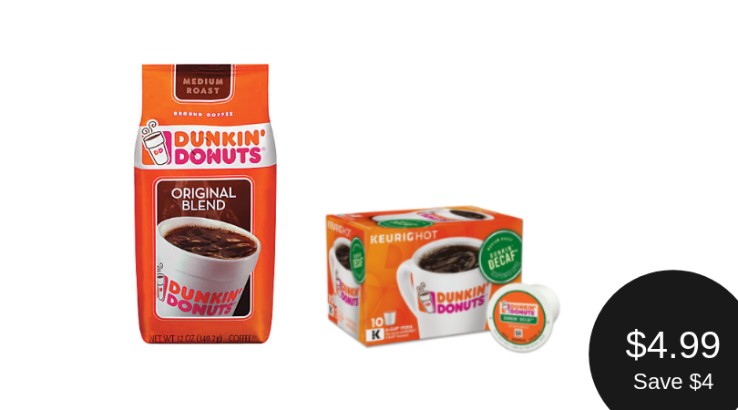 Dunkin' Donuts Bakery Series Caramel Coffee Cake Flavored Coffee K-Cup Pods, For Keurig Brewers, 10 Count.