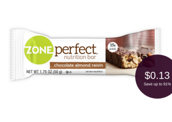 NEW ZonePerfect Bar Coupon and Sale, Pay Just 13¢ for 2 bars at Safeway