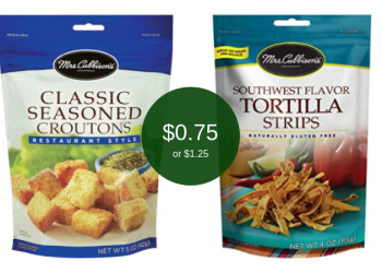 Mrs. Cubbison's Coupons and Sale, Pay Just $.75 for Croutons or $1.25 for Tortilla Strips