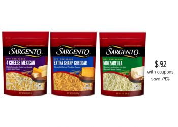 Sargento Shredded Cheese Coupon Stack, Pay Just $.92 (Reg. $3.49)