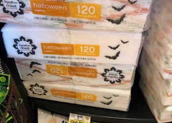 Signature Home Halloween Paper Towel Roll or Napkins 120 ct. Just $.49