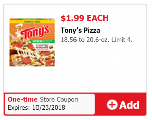 Tony's Pizza Just For U