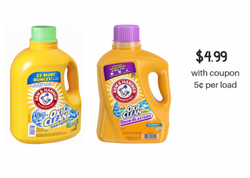 Arm & Hammer Detergent Sale and Coupon, Pay Just 5¢ Per Load