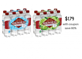 Arrowhead Sparkling 8 Packs Just $1.79 With Coupon ($.22 each)