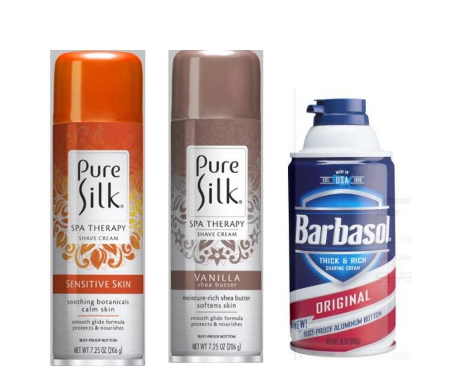 barbasol and pure silk