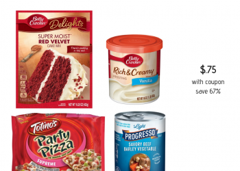 Betty Crocker Cake Mix, Frosting, Progresso Soup and Totinos Pizzas Just $.75 ea. at Safeway