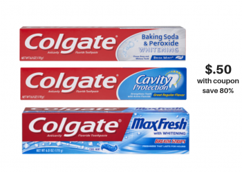 Colgate Toothpaste 6 oz Just $.50 Each With New Sale and Coupons