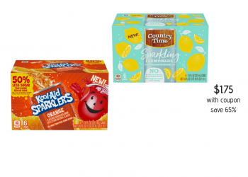 Kool-Aid Sparklers and Country Time Sparkling Lemonade Drinks Just $1.75 (Reg. $4.99)