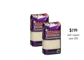 Mahatma Jasmine Rice 2 lbs. Just $1.99 With Coupon (Reg. $3.99, save 50%)