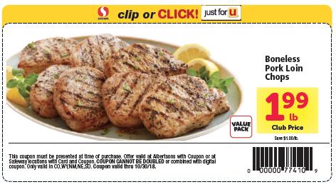 pork loin chops sale