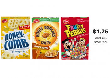 Post Honey Bunches of Oats, Pebbles, Honeycomb & More Cereals Just $1.25 or Less at Safeway